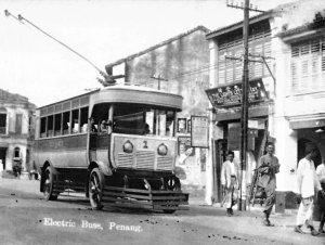 George_Town_trolleybus_number_1_-_ca__1926