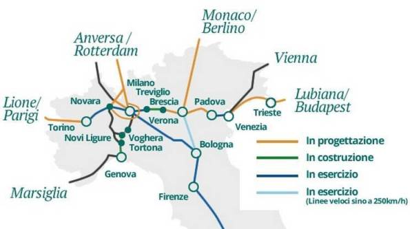 aaaIl Terzo Valico tra Tortona e Genova si inserisce nel programma di potenziamento del sistema ferroviario italo-europeo sud-nord e est-ovest