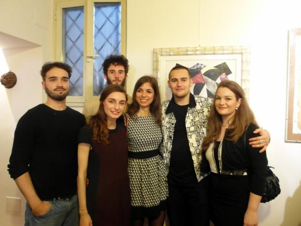 da sx Marco Giva Magnetti, .nAnnalisa Martinetti, Giulio Malinverni, Valentina De Luca, Alessandro Balliano, Caterina Como (1)