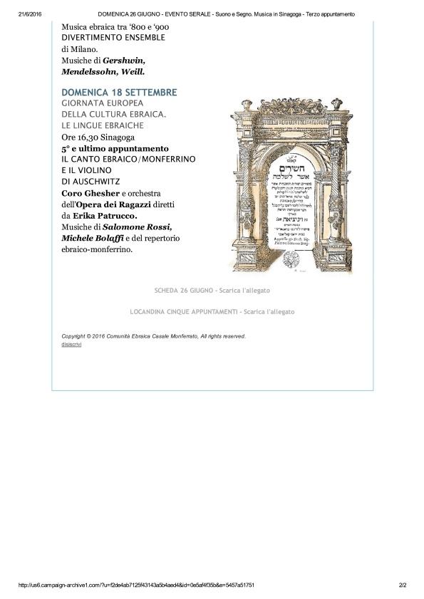 DOMENICA 26 GIUGNO - EVENTO SERALE - Su...usica in Sinagoga - Terzo appuntamento_2