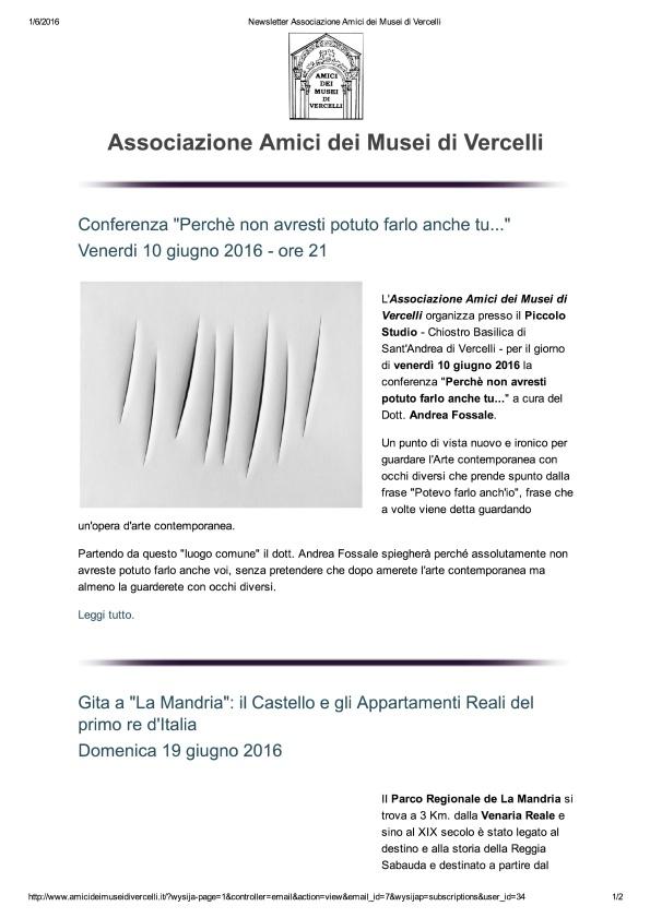 Newsletter Associazione Amici dei Musei di Vercelli_1