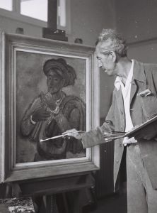 reuven_rubin_in_his_studio_1946