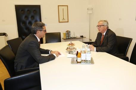 Il colloquio privato fra Kompatscher e Juncker a Palazzo Widmann a Bolzano