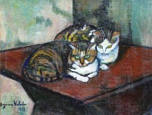 suzanne-valadon-two-cats