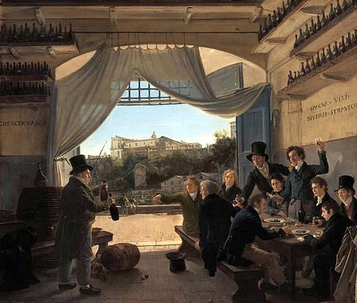 afranz_ludwig_catel_-_crown_prince_ludwig_in_the_spanish_wine_tavern_in_rome_-_wga4567